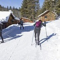 Clicking in and heading out to the Gladiator Creek Loop.- Galena Lodge Nordic Center