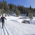 There are tracks for Nordic skiers and groomed areas for skate skiers.- Galena Lodge Nordic Center