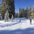 Cross-country skiing near Galena Lodge.- Galena Lodge Nordic Center