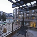 The view from the balcony of a suite.- The Limelight Hotel-Ketchum
