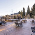Outdoor seating at the Limelight Hotel Ketchum.- The Limelight Hotel-Ketchum