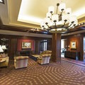 The elegant lobby.- The Sun Valley Lodge