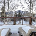 Looking out to Sun Valley Ski Resort's Bald Mountain from the Clint Eastwood Suite's deck.- The Sun Valley Lodge