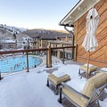 The swimming area from the deck of the Clint Eastwood Suite.- The Sun Valley Lodge