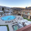 The heated outdoor pool.- The Sun Valley Lodge