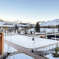 The ice skating rink.- The Sun Valley Lodge