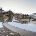 The iconic Sun Valley Lodge.- The Sun Valley Lodge