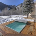 The outdoor hot tub has some awesome views.- Pennay's at River Run