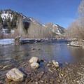 The Big Wood River hugs the property boundaries. - Pennay's at River Run
