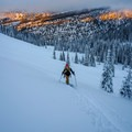 Skinning up the local run.- Backcountry Skiing the Baldy Knoll Yurt