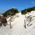 Trail over the dunes.- T. H. Stone Memorial St. Joseph Peninsula State Park Campground
