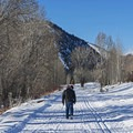 You can walk, bike, and cross-country ski on this multi-use trail. - Wood River Trail