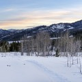 Pretty sunset on the way back.- Billy's Bridge Snowshoe
