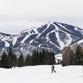 Cross-country skiing under the original ski resort in America. - Sun Valley Nordic Center