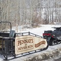 The winter sleigh that takes you to and from the ski resort. - Pennay's at River Run