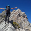 Balancing on the ridge.- Mount Lady MacDonald: East Southeast Ridge
