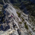 The most technical of the ridge sections.- Mount Lady MacDonald: East Southeast Ridge
