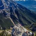The view down toward Canmore.- Mount Lady MacDonald: East Southeast Ridge