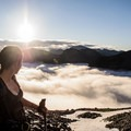 Beautiful views above the inversion.- Mount Matier: North Face