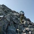 Final sections of third-class climbing.- Mount Matier: North Face