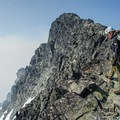 Mount Matier summit ridge.- Mount Matier: North Face