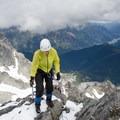 Gaining the summit ridge of Mount Matier.- Mount Matier: North Face