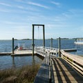 Canoe dock and ferry dock.- Hammocks Beach State Park