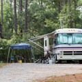 RV camping at Carolina Beach.- Carolina Beach State Park Campground