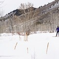 There are both serious and casual skiers on this course. - Durrance Loop Fat Bike