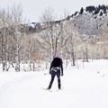 This trail is mainly used for cross-country skiing. - Durrance Loop Fat Bike