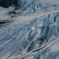 Small open crevasses on the lower flanks are good reminders to stay clear of glaciers unless one has the proper gear and training. - Vantage Peak