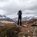 Looking out on great views of Dolomite.- Mosquito Creek