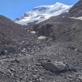 The ascent path is visible in daylight. - Mount Athabasca: The Silverhorn
