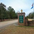 Fontainebleau State Park main entrance gate.- Fontainebleau State Park