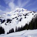 Mount Rainier.- Mazama Ridge Snowshoe