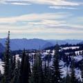 View from the ridge.- Mazama Ridge Snowshoe