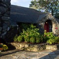 The entrance in fall decor.- Blowing Rock