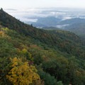 Southwest view over the Blue Ridge valleys.- Blowing Rock