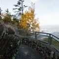 Paths on the edge are narrow but well protected.- Blowing Rock