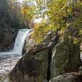 First glimpse below the falls.- Elk River Falls