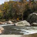 The Elk River as it descends into the gorge.- Elk River Falls