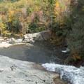 Sunning on the rocks below the falls.- Elk River Falls