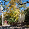 Typical site at Mount Pisgah campground.- Mount Pisgah Campground