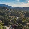 Looking down to Sierra Madre.- Mount Wilson via Mount Wilson Trail