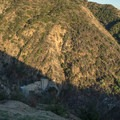 An old dam visible from the trail.- Mount Wilson via Mount Wilson Trail