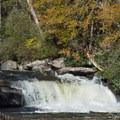 Hidden Falls is your preview of the Horsepasture's cascades.- Rainbow Falls + Turtleback Falls