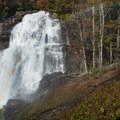 One last look at Rainbow Falls on the return trip.- Rainbow Falls + Turtleback Falls
