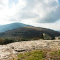 Sun-soaked rocks on top of the mountain.- Roan Highlands: Carver's Gap to Grassy Ridge
