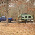 One of the 55 campsites you'll find at the campground.- South Toledo Bend State Park Campground