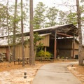 The really cool visitor center. Make a point to stop here and check it out. - South Toledo Bend State Park Campground